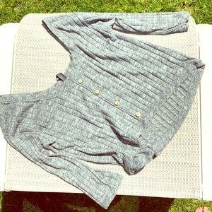 Gray 🐭 Soft Crop Top